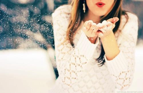 На аватарку девушка зима картинки